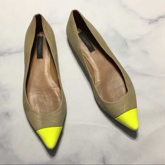 13ff9459a Ann Taylor Shoes | Neon Pointed Toe Flats | Poshmark